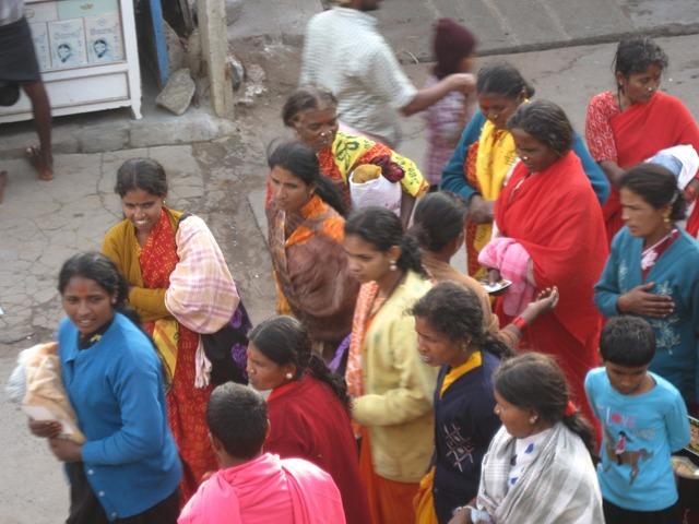 Colorful pilgrims, India
