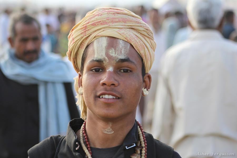young indian sadhu
