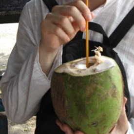 drinking-coconut-water